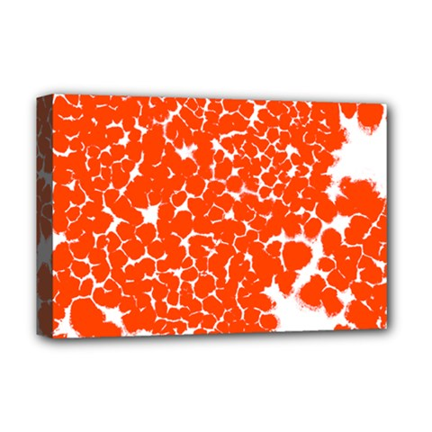 Red Spot Paint White Deluxe Canvas 18  X 12   by Mariart