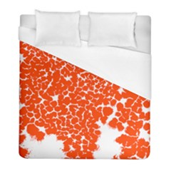 Red Spot Paint White Duvet Cover (full/ Double Size) by Mariart