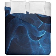 Smoke White Blue Duvet Cover Double Side (california King Size) by Mariart