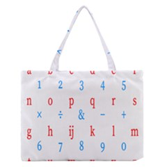 Source Serif Number Medium Zipper Tote Bag by Mariart