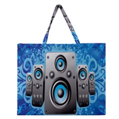 Sound System Music Disco Party Zipper Large Tote Bag by Mariart