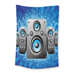 Sound System Music Disco Party Small Tapestry by Mariart
