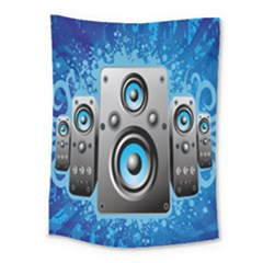 Sound System Music Disco Party Medium Tapestry by Mariart