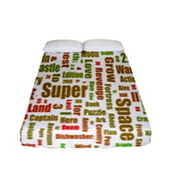Screen Source Serif Text Fitted Sheet (full/ Double Size) by Mariart