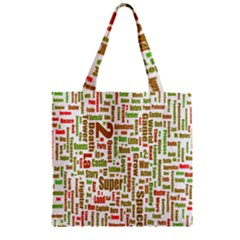 Screen Source Serif Text Zipper Grocery Tote Bag by Mariart