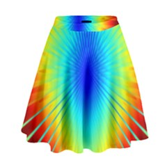 View Max Gain Resize Flower Floral Light Line Chevron High Waist Skirt by Mariart