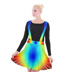 View Max Gain Resize Flower Floral Light Line Chevron Suspender Skater Skirt