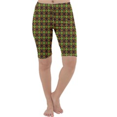 Kiwi Like Pattern Cropped Leggings  by linceazul