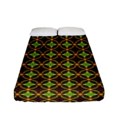 Kiwi Like Pattern Fitted Sheet (full/ Double Size) by linceazul