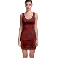 Red Roses Field Sleeveless Bodycon Dress