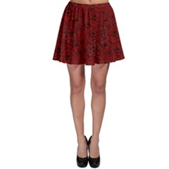 Red Roses Field Skater Skirt