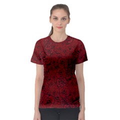 Red Roses Field Women s Sport Mesh Tee