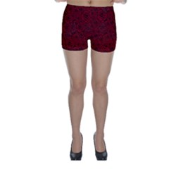 Red Roses Field Skinny Shorts