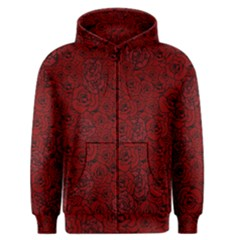 Red Roses Field Men s Zipper Hoodie