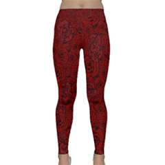 Red Roses Field Classic Yoga Leggings