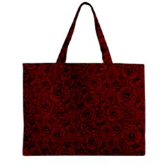 Red Roses Field Zipper Mini Tote Bag by designworld65