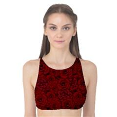 Red Roses Field Tank Bikini Top