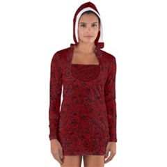 Red Roses Field Women s Long Sleeve Hooded T Shirt
