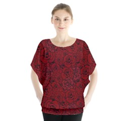 Red Roses Field Blouse by designworld65