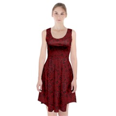 Red Roses Field Racerback Midi Dress