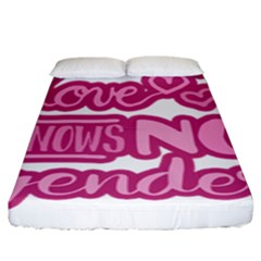 Love Knows No Gender Fitted Sheet (king Size) by Valentinaart