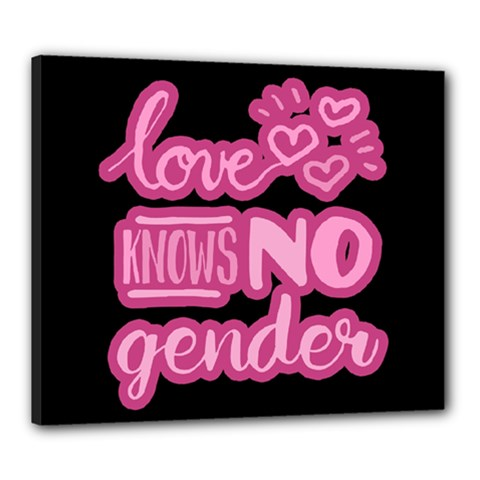 Love Knows No Gender Canvas 24  X 20  by Valentinaart