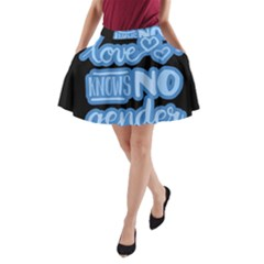 Love Knows No Gender A Line Pocket Skirt by Valentinaart
