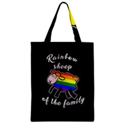 Rainbow Sheep Zipper Classic Tote Bag by Valentinaart