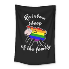 Rainbow Sheep Small Tapestry by Valentinaart