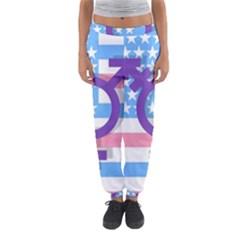 Transgender Flag Women s Jogger Sweatpants by Valentinaart