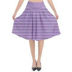 Lines Pattern Flared Midi Skirt