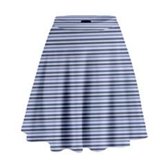 Lines Pattern High Waist Skirt by Valentinaart