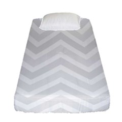 Zigzag  Pattern Fitted Sheet (single Size) by Valentinaart
