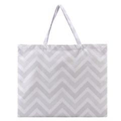 Zigzag  Pattern Zipper Large Tote Bag by Valentinaart