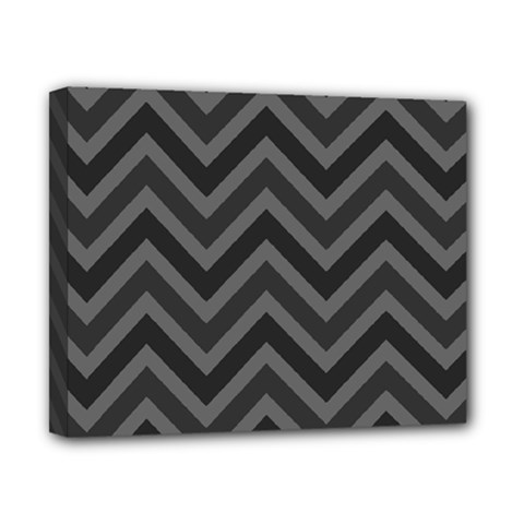 Zigzag  Pattern Canvas 10  X 8  by Valentinaart