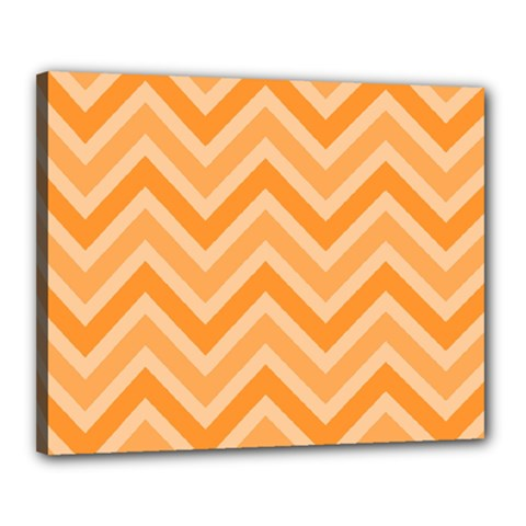Zigzag  Pattern Canvas 20  X 16  by Valentinaart