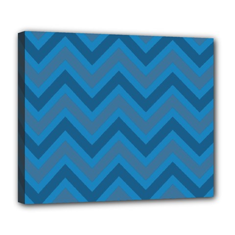 Zigzag  Pattern Deluxe Canvas 24  X 20   by Valentinaart