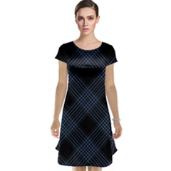 Zigzag Pattern Cap Sleeve Nightdress