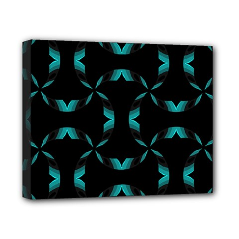 Background Black Blue Polkadot Canvas 10  X 8  by Mariart