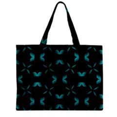 Background Black Blue Polkadot Mini Tote Bag by Mariart