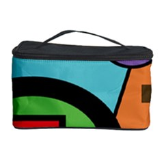 Basic Shape Circle Triangle Plaid Black Green Brown Blue Purple Cosmetic Storage Case by Mariart