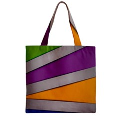 Colorful Geometry Shapes Line Green Grey Pirple Yellow Blue Zipper Grocery Tote Bag by Mariart