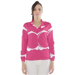 Circle White Pink Wind Breaker (women) by Mariart