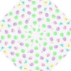 Egg Easter Smile Face Cute Babby Kids Dot Polka Rainbow Straight Umbrellas by Mariart