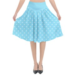 Dots Flared Midi Skirt
