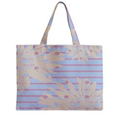 Flower Floral Sunflower Line Horizontal Pink White Blue Zipper Mini Tote Bag by Mariart