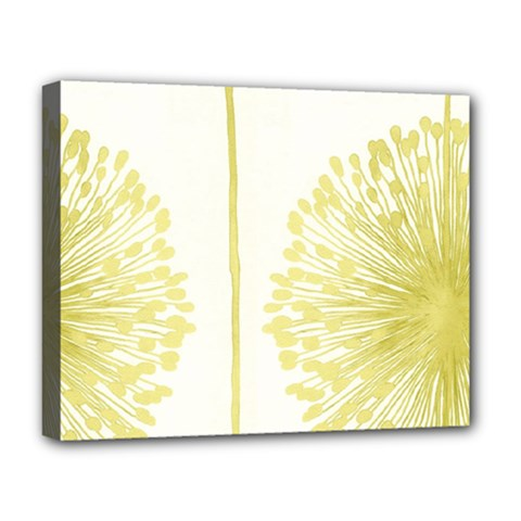 Flower Floral Yellow Deluxe Canvas 20  X 16   by Mariart