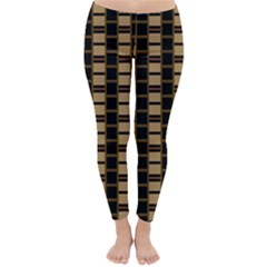 Geometric Shapes Plaid Line Classic Winter Leggings by Mariart