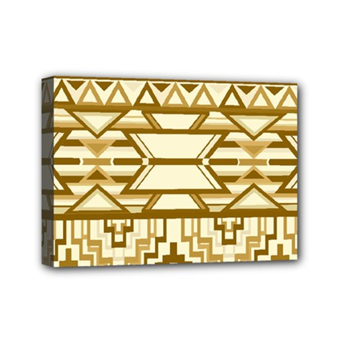 Geometric Seamless Aztec Gold Mini Canvas 7  X 5  by Mariart