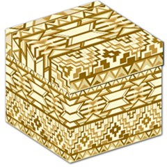 Geometric Seamless Aztec Gold Storage Stool 12   by Mariart